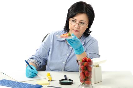 Odour testing food