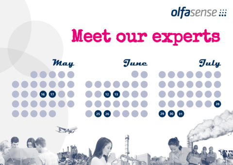 Meet our odour experts at various events from May to July