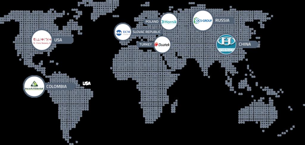 Olfasense Distributor Map 2020