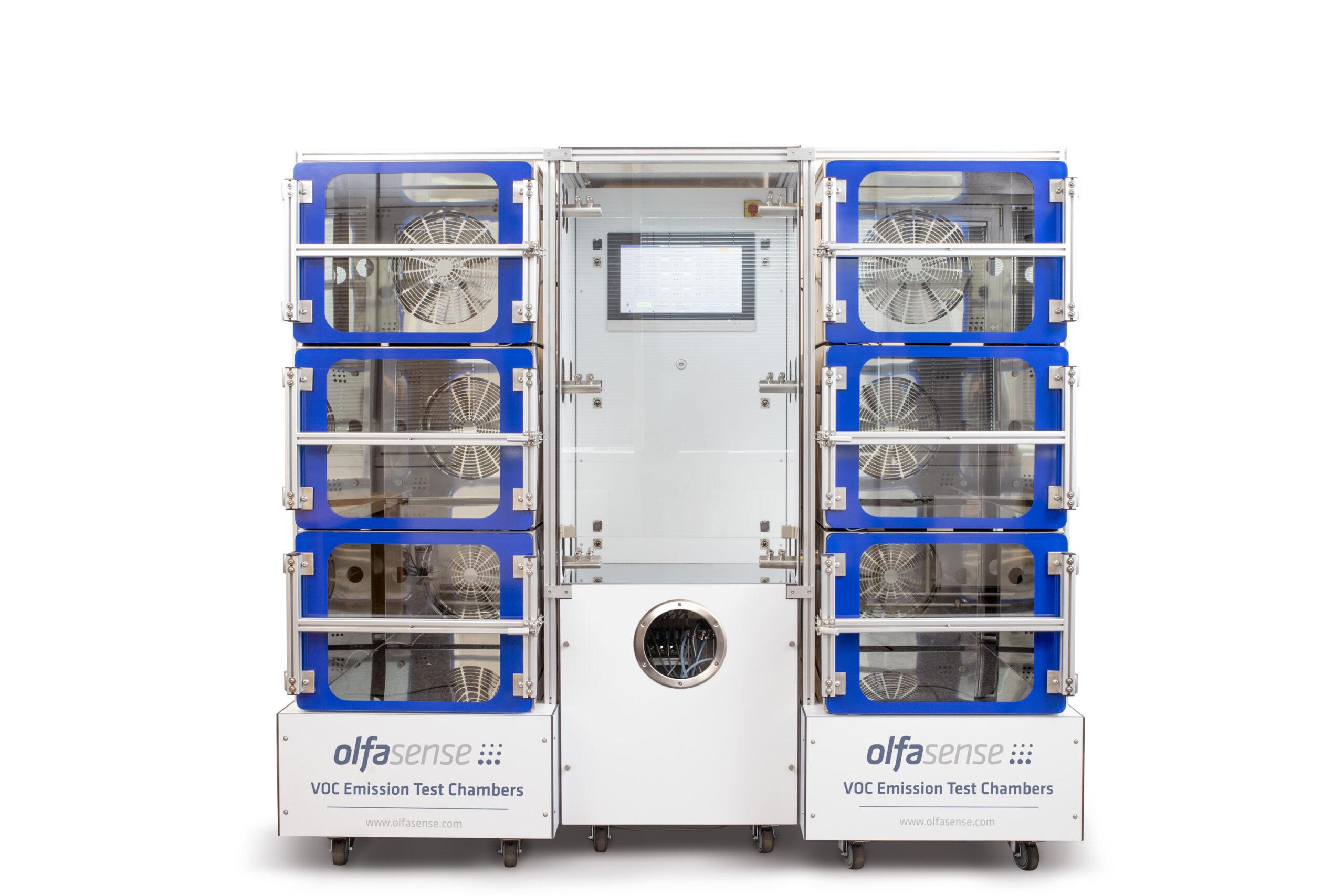 VOC emission test chamber rack system (31)